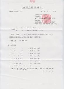 試験報告書 001